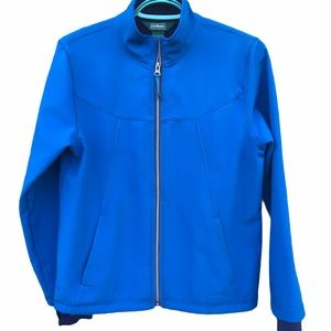 LL Bean Zip Trail Jacket Coat Blue Lined